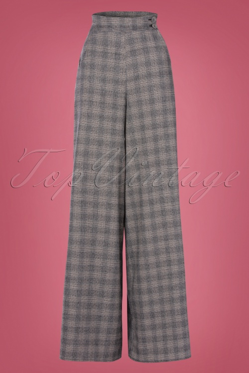 Miss Candyfloss 31035 Trousers Grey Tartan 07112019 000002W