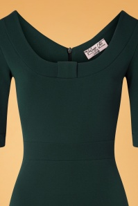 Vintage Chic 32110 Pencildress Green Big Bow 10242019 002V