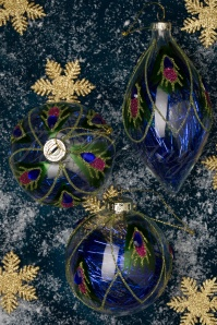 Sass&Bellw 32670 Peacock feathers Bauble 20191022 030 W