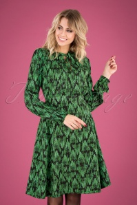 60s Greta In Love Robe in Emerald Palace Green