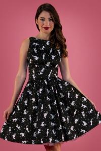 Lady V 32654 Tea Dress Ditsy Cats 20191025 020L W