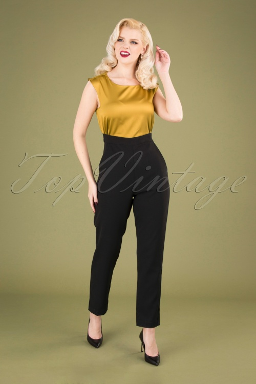 Closet 32043 Jumpsuit in mustard and black 20190923 040MW