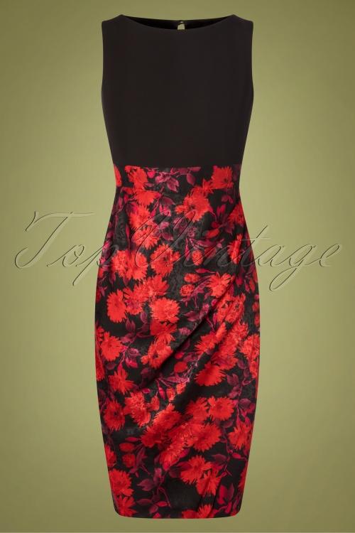 Closet London 32489 Pencil Dress in Red 20191025 003W