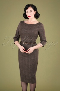 Collectif Clothing Adeline Librarian Check Dress 24896 20180628 040MW