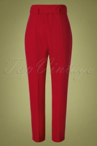 Closet London 32487 Trousers in Gold Red 20191025 013W
