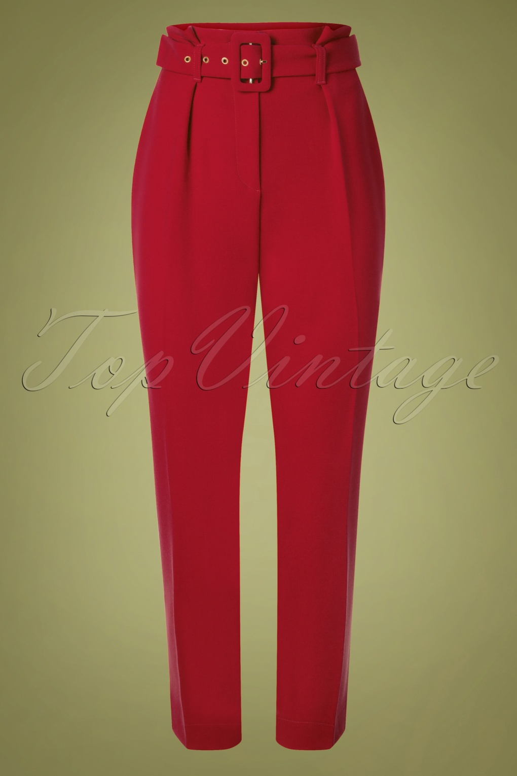 60s – 70s Pants, Jeans, Hippie, Bell Bottoms, Jumpsuits 60s Dorris Trousers in Lipstick Red £65.30 AT vintagedancer.com
