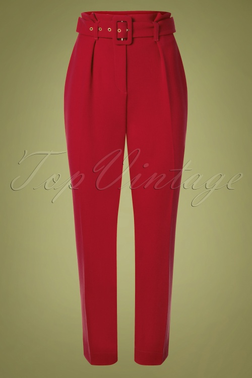 Closet London 32487 Trousers in Gold Red 20191025 006W