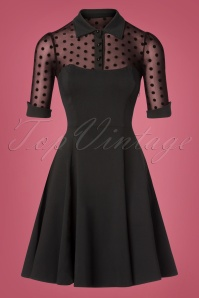 Collectif Clothing Wednesday Skater Dress Black Polkadot 102 10 24903 20181105 0463