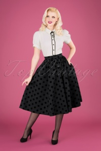 Heart & Roses 31118 Black Polka Dot Skirt 040MW
