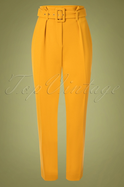 Closet London 32488 Trousers in Gold Yellow 20191025 006W