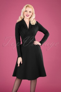 Claudia Swing Dress Années 50 en Noir
