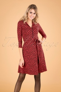 Emmy Orbit Dress Années 60 en Rouge Icône