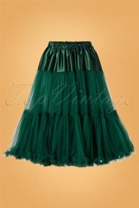 Arly Petticoat Années 50 en Vert Foncé