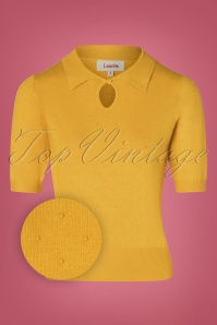 Louche 30119 Mustard Yellow Dot Top 20190717 002W1