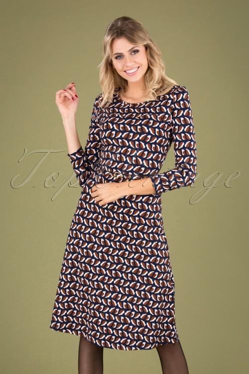 Mademoiselle Yeye 29574 Beth Favourite Dress Brown Blue Birds 20190725 040MW