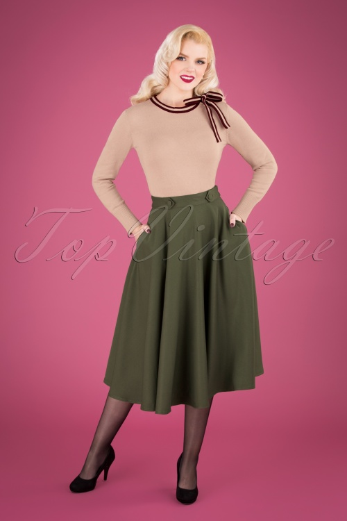 Banned 30677 Di Di Swing Skirt in Green 20190516 040M W