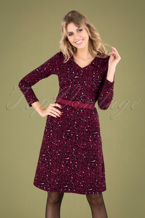 Mademoiselle Yeye 29577 Vintage moment Dress Red Leopard 20190725 040MW