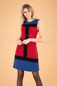 Mademoiselle Yeye 29591 Eve Saint Florence Dress Red Blue Black 20190725 040MW