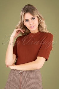 60s Alvena Sweater in Burnt Orange