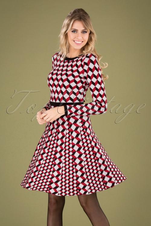 Smashed Lemon 30240 Black Red White A Line Dress 20190920 040MW