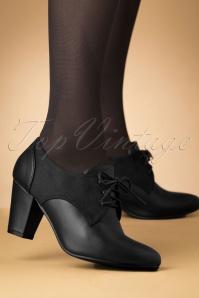 40s Vera Shoe Booties in Black
