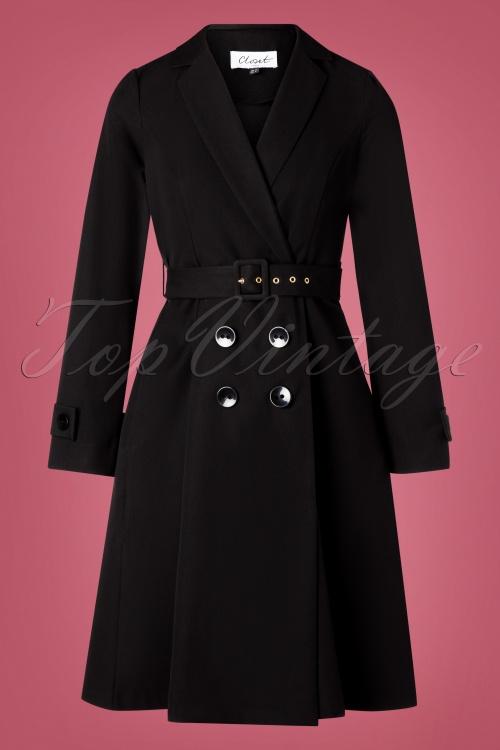Closet 32490 Coat Black Wrap 10282019 003W