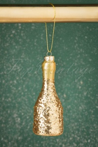 Sass&Belle 27778 Prosecco Glitter Hanging Decoration Gold 20191024 004 W