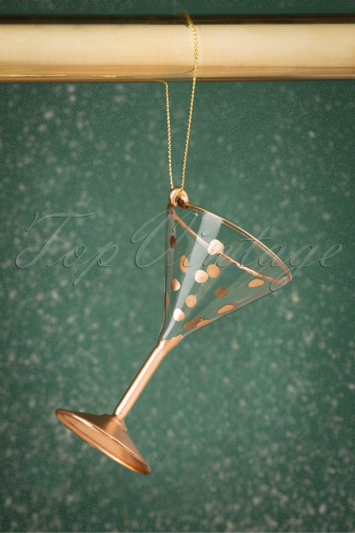 Sass&Belle 27786 Martini Glass Hanging Decoration Gold 20191024 011 W