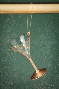 Sass&Belle 27786 Martini Glass Hanging Decoration Gold 20191024 010 W