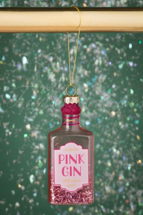 Sass&Belle 32664 Pink Gin Bauble Glitter 20191024 002 W