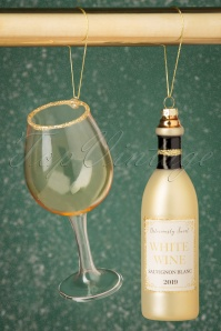 White Wine Bauble Set