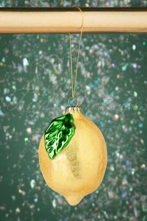 Sass&Belle 32666 Shimmering Lemon Bauble Glitter Xmas Christmas 20191024 008 W
