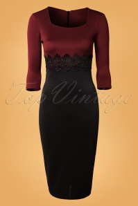 Vintage Chic Midi Mocha Lace Bodycon Dress 100 52 14236 20141009 0002W