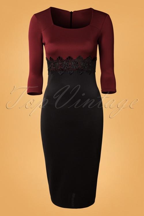 Vintage Chic Midi Mocha Lace Bodycon Dress 100 52 14236 20141009 0002W