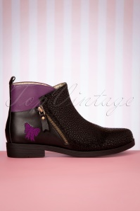 Lola Ramona 30278 Allison Shoe Purple Black Flats Boots 20191029 019 W