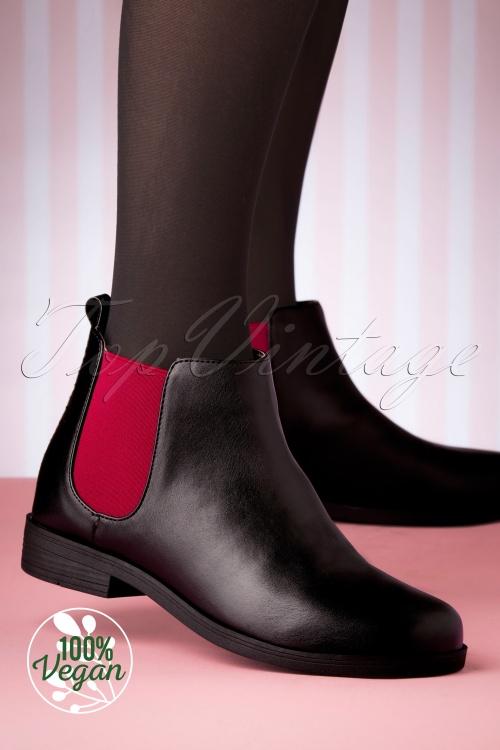 Lola Ramona 30277 Allison Shoe Red Black Flats Boots 20191029 007 vegan