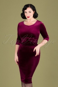 Vintage Chic 31531 Velvet Pencil Dress 20190923 040MW