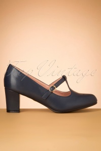 La Veintineuve 30508 Giselle Blue Heels Tstrap 20191029 020W
