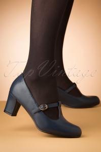 La Veintineuve 30508 Giselle Blue Heels Tstrap 20191029 008W
