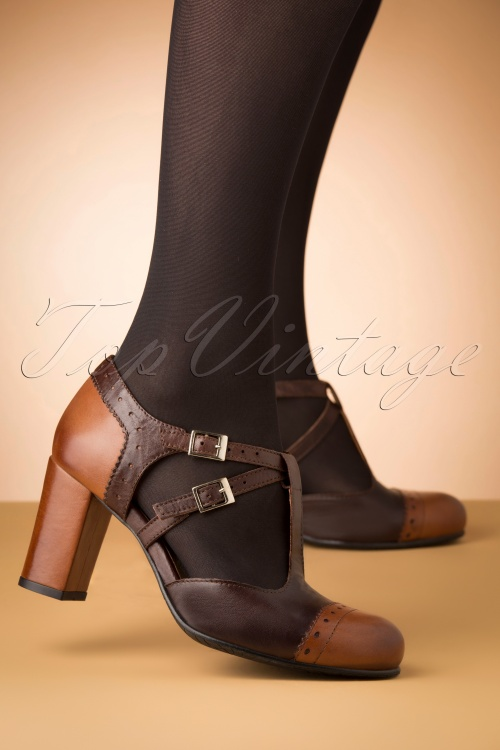 La Veintineuve 30138 Elena Brown Heels 20191029 003W