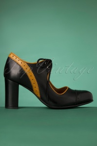 La Veintineuve 30139 Margot Black Yellow Heels Mustard 20191029 025W