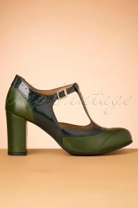 La Veintineuve 30135 Ada Green Heels Patent 20191029 017W