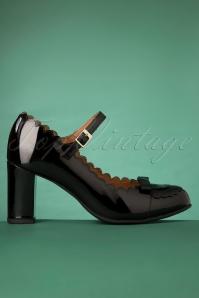 La Veintineuve 30141 Patent Black Heels Penelope Shiny 20191029 019W