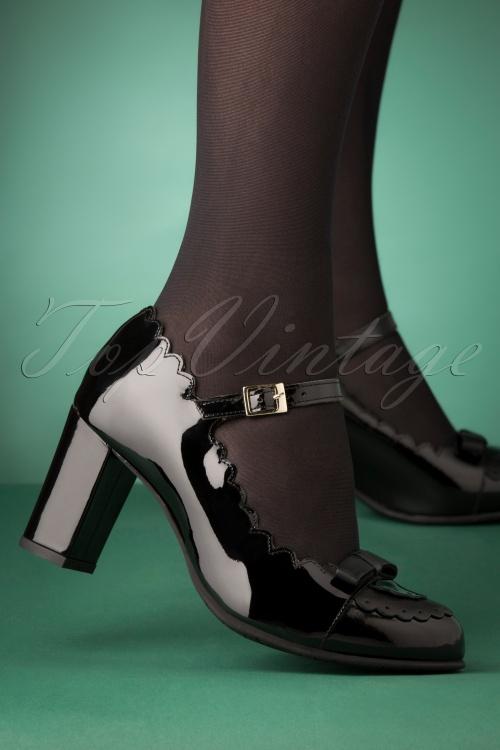 La Veintineuve 30141 Patent Black Heels Penelope Shiny 20191029 007W