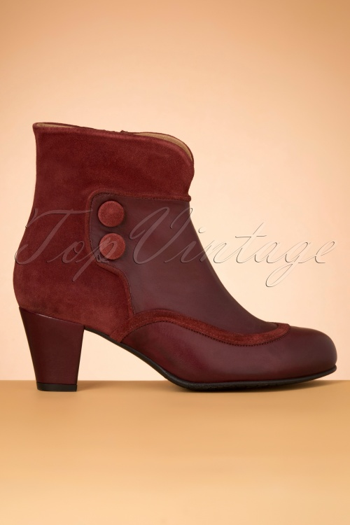 La Veintineuve 30142 Olga Red Shoes Bootie 20191029 015W