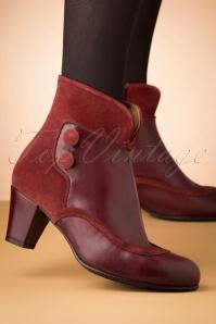 La Veintineuve 30142 Olga Red Shoes Bootie 20191029 004W