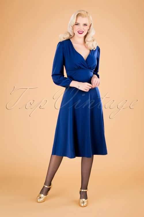 Unique Vintage 31209 Swingdress Blue 09162019 040MW