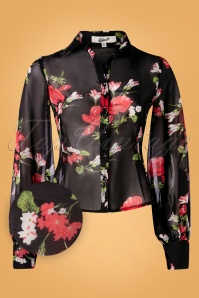 Belsira 32917 Blouse Black Floral Transparent 10312019 003W1