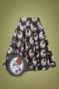 Belsira 32916 Swingskirt Black Polka Cats 10312019 007 Z