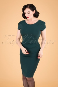 Vintage Chic 32015 50s Bethany Green Pencil Dress 20190920 040MW